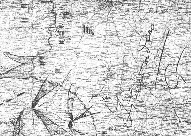 Карта-схема Орловской